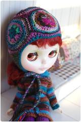Mitzi in swirly helmet