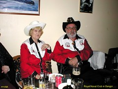 Bangor.- Royal Naval Club in Bangor County Down, Northern Ireland. (mrvisk) Tags: old irish history navel cowgirl cowboy drink guinness red white black navy