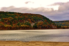Devil's Lake (Meggiemae67) Tags: autumn trees vacation lake color fall nature wisconsin devils hike devilslake