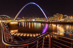 That bridge. (Mike Ridley.) Tags: uk longexposure england colour night newcastle stars photography evening tyne millennium millenniumbridge gateshead tynebridge moonlit nighttime nightscene canon1740mmf4lusm quayside northeastengland tynesidenewcastle canon5dmkll fellwalker1 bloodyfeeezingcold