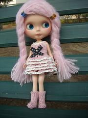 multilayers crochet dress