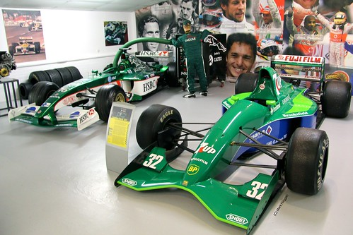 Jordan's first Formula One car, the 1991 no.32, at The Donington Collection