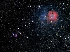 M20/M21 (Trifid Nebula/Open Cluster) (CSky65) Tags: clusters messier deepspace nebulae deepsky astrometrydotnet:status=solved astrometrydotnet:version=14400 astrometrydotnet:id=alpha20121110642104