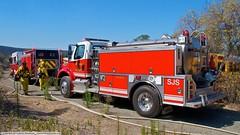 SJS Engine Company 2 (Engine and Water Tender 2) (YFD) Tags: california usa canon fire action 911 sanjose firetruck fireengine sjfd emergency ems firedepartment hitech spartan gladiator watertender pumper freightliner wildland eos7d westates