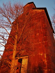 Rust(Explored 11-17-2012) (BillsExplorations) Tags: mill abandoned rural vintage illinois corn rust ruins midwest antique decay country elevator grain explore discarded abandonment ruraldecay grainelevator farmmachinery manufacturing shuttered grainbin grainstorage illinoisabandonment