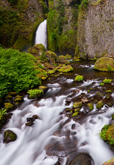 Wahclella Falls (Bubba Trout) Tags: green oregon creek river moss columbia falls waterfalls gorge tanner lush mossy wahclella wahclellafalls oregonjune2012 oregon2012vacationjune