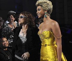 Beyonce Knowles, Etta James, Donto James and Etta James Manager Kathleen Checki (Simply Consistent Management , Kathleen Checki)