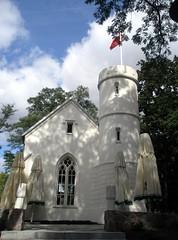 The wedding chapel. (maya_dragonfly) Tags: park sky cloud tree nature landscape ilovenature europe poland chapel olympus palace goldenmix mindigtopponalwaysontop autumn12 turzno