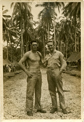 Ken Champlin and Stoney Mason, Guadalacanal - 1944 (Matt Champlin) Tags: portrait usa history usmc war pacific wwii grandfather archives historical guam 1944 guadalcanal pacifictheatre guadalcanalusmc edsonsraiders