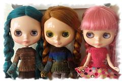 Three plaited girls