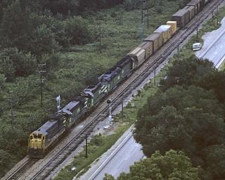 ex-NP U33C at Savanna - 1972