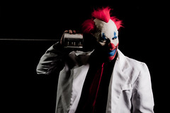 I'm all ears (Spectral Convergence) Tags: light shadow scary clown can strobist tincanstring