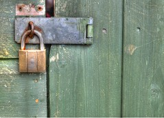 What's Behind The Green Door (Whitto27) Tags: door green texture nikon rust pov lock knot nails yale padlock hdr staple hasp photomatix d5100 whitto27