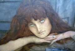 Fernand Khnopff, I Lock the Door Upon Myself, detail with head (close)