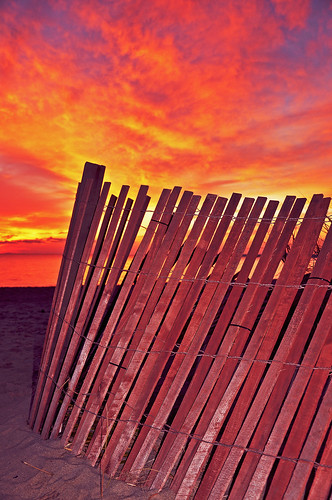 Sunset on the beach fence!!