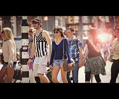 Crossing 2 (Vicktor Abrahams) Tags: street city light people sun holland art 20d amsterdam canon walking lights iso100 flickr dof bokeh walk candid canon20d streetphotography 300mm netherland streetphoto cinematographer 70300mm cinematic 1250 vicktor bokehlicious 56 tamronsp70300mmf456divc