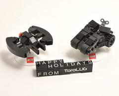 Tumbler and Batwing Ornaments (Si-MOCs) Tags: lego ornaments batman snowglobe tumbler batwing