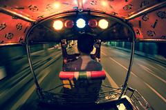 On board... (Swadric) Tags: motion streets night thailand bangkok taxi fast turbo furious