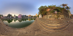 6. 360x180 panoramic view of Banganga or Banganga Tank, Walkeshwar Temple Complex, Walkeshwar, Mumbai, Maharashtra - India (Humayunn N A Peerzaada) Tags: panorama india lens model photographer shaved fisheye tokina virtual actor maharashtra mumbai 360 banganga walkeshwar humayun tokinalens 360panorama peerzada tokinafisheye bangangatank humayunn peerzaada humayoon humayunnnapeerzaada humayunnapeerzaada tokinafisheyelens nikond3x 10to17mmf3545 walkeshwartemplecomplex 360x180virtualpanoramaview