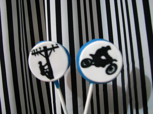Special cake pops for Hydro Line man and dirt biker