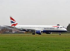 G-LYCP Embraer 190 British Airways. (Keith B Pics) Tags: ba britishairways southend sen embraer diversion lsa lcy e190 cityflyer egmc glycp