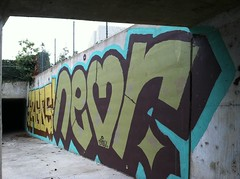 Froes Neor (melted one) Tags: graffiti big high tag tunnel roller spraypaint 12 graff 2012