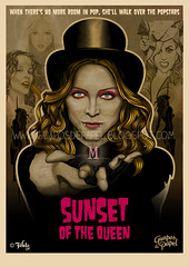 SUNSET OF THE QUEEN (Fefeto Art) Tags: gay sunset lady de kylie spears madonna queen papel queer britney popstars gaga guapos minogue fefeto