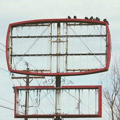 (provincijalka) Tags: winter cold abandoned broken birds high december empty pigeons lookingup rusted today hollow oldsign huddled nolights outofcommission snowless emptysky nostory unispired signlesssign intonothing provincijalka