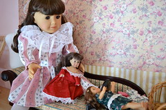 Dec 6 - Dress The Dolls (melimeli - photos) Tags: christmas amanda advent calendar mini samantha americangirl
