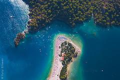Blue Lagoon (yuriye) Tags: blue sea sky turkey fly lagoon resort aero oludeniz fethiye birdsview paragling yuriye