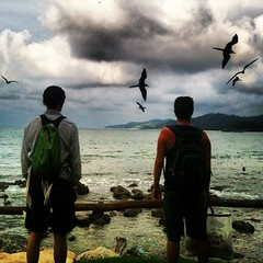 Almost time to say 'Adios' (Bhlubarber) Tags: ocean bird beach square mexico coast jon pacific brother lofi squareformat hermano sayulita iphone iphoneography instagramapp uploaded:by=instagram foursquare:venue=4c59accb6407d13a99c7b228