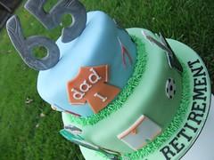 65th & Retirement Cake (Victorious_Sponge) Tags: birthday cake retirement 65th