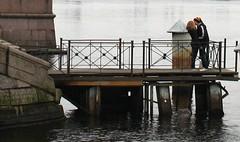 Saturday Afternoon, Neva River (ktmqi) Tags: fall river stpetersburg kiss couple russia lovers romantic nevariver