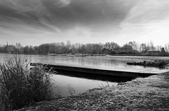 N&B (lomtx) Tags: lomtx nord france canon eos 600d paysage etang rieulay