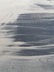 Coal ink (Nekoglyph) Tags: black beach lines sand stripes cleveland redcar coatham seacoal
