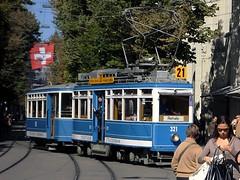 Tram Museum Zürich - Museumslinie 21 am Paradeplatz - 29. September 2007 (hrs51) Tags: streetcar tram zürich tmz museum trammuseum strassenbahn museumslinie 21 historical zurich switzerland schweiz public transport tramway hans rudolf hansrudolf hansruedi stoll