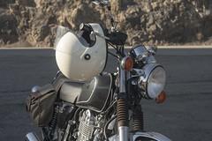 SR400 (wadetaylor) Tags: motorcycle sr400 yamaha cafe racer tracker scrambler pch pointmugu biltwell gringo helmet beach ocean shore coast