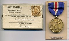L.E. Hull's Connecticut Victory Medal (Madison Historical Society) Tags: madisonhistoricalsociety madisonhistory mhs madison connecticut conn ct country newengland scan bobgundersen museum old historical history worldwari wwi firstworldwar greatwar military leeacademy academy bostonpostroad route1 interesting image inside indoor shoreline document