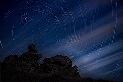 Star Trails Attempt #2 (Ben Lockett) Tags: 1740l 5d photoshop night stars roaches spiral circle trails startrails
