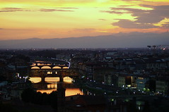 River of Gold (Steve Harrison Photographic) Tags: florence italy firenze view skyline sky sunset river riverarno florentine city cityscape piazzademichelangelo piazzalemichelangelo
