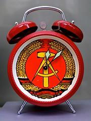 socialist clock (Arnolt S.) Tags: socialistclock clock ddr alarmclock socialism hausdergeschichte red rot hammerzirkel mft microfourthirds lumix panasonic lumixgf7 leicasummilux1517 germandemocraticrepublic uhr wecker