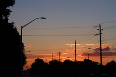 closing in (viewsfromthe519) Tags: summer saintthomas stthomas ontario canada sunset sky silhouette orange golden yellow blue clouds