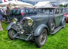 1934 Lagonda 3ltr Silent Travel  ST24 Saloon. (ManOfYorkshire) Tags: 1934 lagonda kaypetre husband owned ownership 3ltr silent travel st24 saloon car auto automobile classic restored preserved show deafschool doncaster denmark 1968 1981 1990 2016 painted changed colour battleship grey black orginal citroen c3 picasso