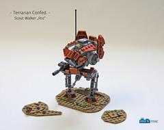 SW_Ilits (THE BRICK TIME Team) Tags: lego space walker war star mech warrior scout iltis machine gun minigun