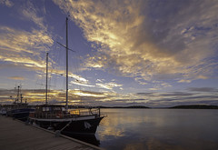 Evening (KariFinland) Tags: canon5d mk2 samyang 14mm dock boat evening lake saimaa lappeenranta suomi
