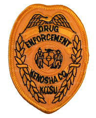 Kenosho County Drug Enforcement Badge Patch (Nate_892) Tags: wi wisconsin police sheriff county kenosho drug enforcement badge patch subdued waukesha tactical unit