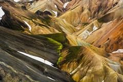 Landmannalaugar (colin grubbs) Tags: iceland mountains trek hiker fjallabak landmannalauger rhyolite mineral sulphur volcano geothermal travel europe helicopter
