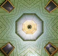 A La Ronde centre (David Wheatley) Tags: alaronde ceiling architecture symmetry abstract historic house artsandcrafts devon england uk britain