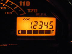 Dealing a Straight (Ralph Toyama) Tags: 12345 miles milage suzuki boulevard m50 vz800 odometer speedometer gauge motorcycle intruder m800 mph milesperhour
