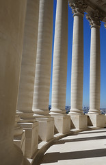 The walkway around the dome - Pantheon, Paris (Monceau) Tags: panthon walkway dome outside columns blue sky repetition
